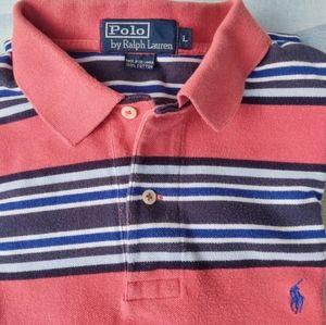 Polo By Ralph Lauren Multi Striped Short Sleeve T-shirt  Pony Men's Sz L